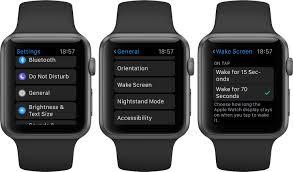 how to keep apple watch display awake for 70 seconds instead of 15 watchos 2 wake screen apple watch screenshot 001