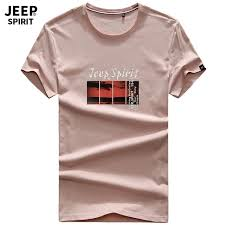 Broadcloth <b>JEEP SPIRIT Brand Summer</b> T-shirt Men Casual Cotton ...