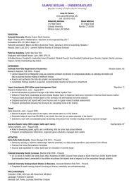 Resume Central   Gallaudet University      nd Undergraduate Resume Sample