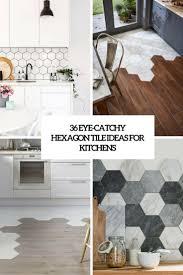 Hexagon Tile Floor Patterns 36 Eye Catchy Hexagon Tile Ideas For Kitchens Digsdigs