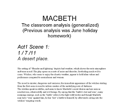 macbeth act  scene  analysis   gcse english   marked by teachers comdocument image preview