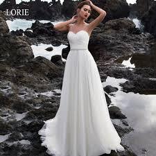 LORIE Glittering Star A-line Wedding Dresses Deep V-neck Bride ...
