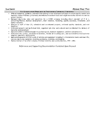heavy equipment operator resume example sample resume heavy equipment operator