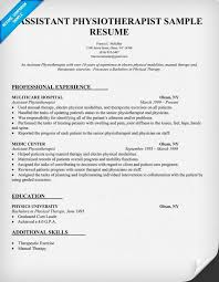 resume sample assistant physiotherapist resume  http    resume sample assistant physiotherapist resume  http   resumecompanion com    resume samples across all industries   pinterest   resume and resume examples