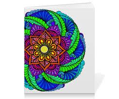 <b>Тетрадь на скрепке</b> Яркий цветок в этническом стиле #2582393 ...