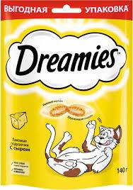 <b>Лакомство Dreamies</b>, для взрослых <b>кошек</b>, подушечки с сыром ...