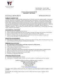 security officer resume skills security guards companies the