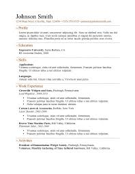 breakupus inspiring free resume templates primer with fetching generic resume examples