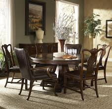 piece dining set splat  piece round dining table with splat back dining side chairs and leath