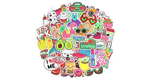 Waterproof Cute Vinyl Stickers Pack for Water Bottle Laptop for Teen ...