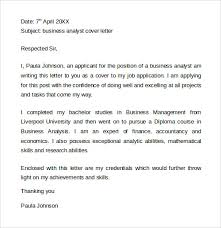 sample cover letter template      download free documents in wordbusiness analyst cover letter to print