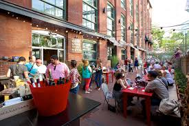 patio dining: belly wine bar best outdoor dining patio deck