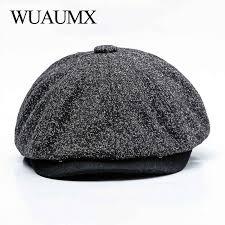 <b>Wuaumx Unisex</b> Autumn Winter <b>Retro</b> Newsboy Caps Men Women ...