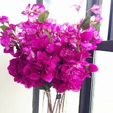 6pcs <b>Silk</b> Bougainvillea Tree Branches <b>Artificial</b> Hot <b>pink color Fake</b> ...