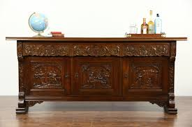quality small dining table designs furniture dut: dutch oak sideboard server buffet or tv console carved renaissance scenes