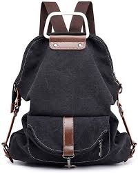 Women Canvas <b>Backpack</b> Casual Travel Bag <b>Retro Style</b> Multi ...