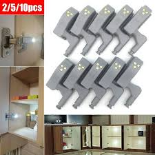 10X <b>Cabinet Hinge LED</b> Sensor Light Fr Wardrobe <b>Cupboard</b> Home ...