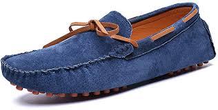 Yuchun <b>Men's peas Shoes</b> Genuine Leather Casual <b>Shoes</b> (Blue,7 ...
