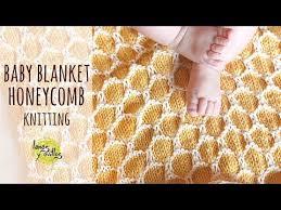 Tutorial Easy Knitting <b>Baby</b> Blanket   <b>Two Colors</b> Honeycomb Stitch ...