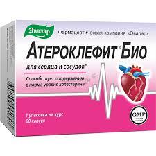 Эвалар <b>Атероклефит Био</b> для сердца и сосудов капсулы <b>60</b> шт ...