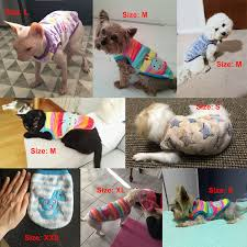 12 Colors <b>Cartoon</b> Puppy Vest Clothing <b>Warm Dog Clothes</b> ...