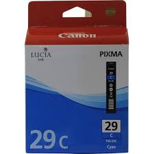 Оригинальный <b>картридж Canon PGI-29C</b> (голубой) Голубой ...