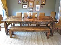 Farmhouse Style Dining Room Sets Kitchen Dining Set Farmhouse Kitchen Table With Bench Kitchen