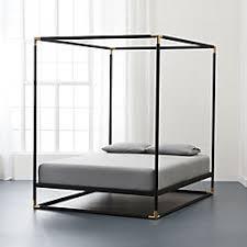 frame canopy bed cb2 bedroom furniture