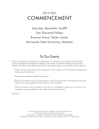 Fall Commencement Program by Minnesota State University