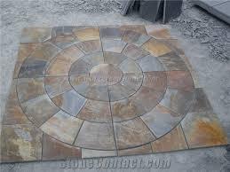 patio slab sets: outdoor stone patio patterns blue limestone terrace floors rustic slate paving sets random patio pavers xiamen winggreen manufacturer