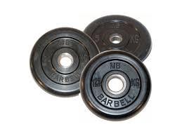 <b>Диск обрезиненный</b> d 26 мм <b>MB Barbell</b> 1,25 - 25 кг - Сеть ...