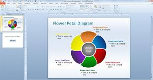 editable flower petal powerpoint templatepetal powerpoint diagram template