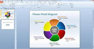 editable flower petal powerpoint templatepetal powerpoint diagram template