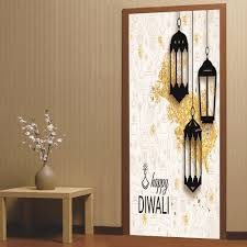 2pcs/set 3D Diwali Style DIY Door Art Mural <b>Stickers Ramadan</b> ...
