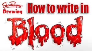 how to write in blood spoken tutorial for halloween
