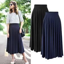 M 5XL <b>Plus Size</b> Casual Women Pleated Skirts New 2019 Summer ...