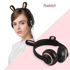 <b>Cat Ear Headphones Flashing</b> Glowing <b>Headphone</b> Gaming ...