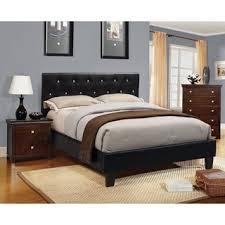 furniture of america mircella 3 piece black leatherette bedroom set black bedroom furniture set