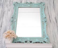 teal blue mirror french country home mirror for sale syroco vintage blue framed shabby chic 29 antique dresser framed leaning mirror shabby chic
