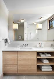 bathroom place vanity contemporary:  examples of bathroom vanities that have open shelving the combination of drawers