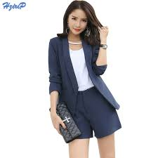 2017 Work Wear Short Pants Suit Women Summer Autumn Long ...