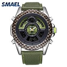 <b>SMAEL</b> Digital Wristwatches for <b>Men LED Watches</b> Leather Strap ...