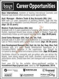 bays international assistant manager modern trade executives bays international assistant manager modern trade executives zonal s manager and other jobs dawn jobs ads 07 2014