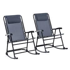 <b>Rocking Chairs</b> Patio, Lawn & <b>Garden</b> Grey Outsunny Outdoor Patio ...