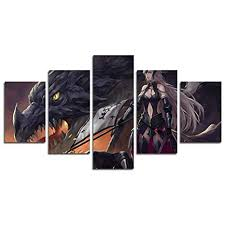 AtfArt 5 Piece Anime Destiny Big Order Jenny Canvas ... - Amazon.com