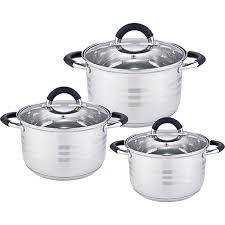 <b>Набор</b> посуды 6 предметов: 3 <b>кастрюли</b> Webber BE-623/6 со ...