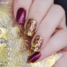 <b>1 sheet 3d</b> gold <b>embossed</b> nail stickers flower blooming decals ...