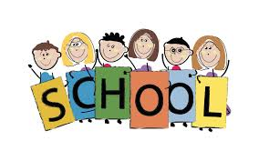 Icon of children holding sign that says 'school'