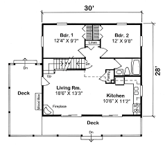 House Plan at FamilyHomePlans comCabin Cottage House Plan Level One