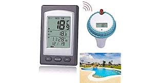 <b>Wireless</b> Remote Floating Thermometer <b>Swimming Pool</b> Waterproof ...